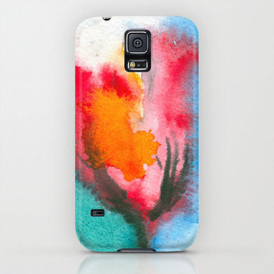 iPhone 7 Case Floral Phone Case - Watercolor Tulip Flower Painting - Designer iPhone Samsung Case - Brazen Design Studio