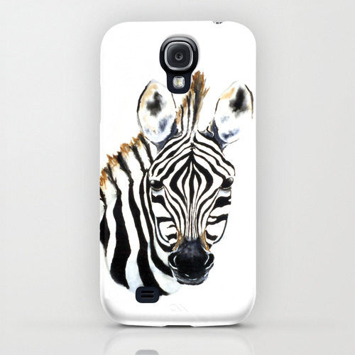 Zebra iPhone 7 Case - Wildlife Painting - Cell Phone Cover - Designer iPhone Samsung Case - Brazen Design Studio