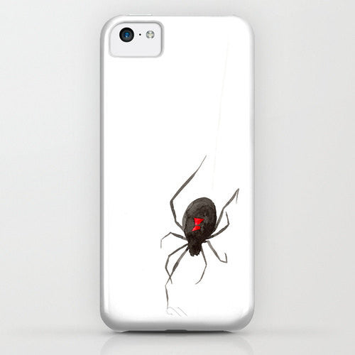 iPhone Case - Black Widow Spider Painting - Designer iPhone Samsung Case - Brazen Design Studio