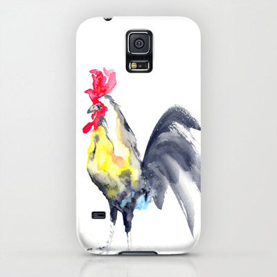 iPhone Case - Rooster Cockrel Painting - Cell Phone Cover - Designer iPhone Samsung Case - Brazen Design Studio