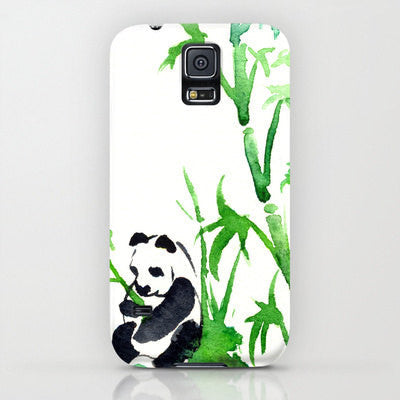 iPhone Case Panda Bamboo Painting - Designer iPhone Samsung Case - Brazen Design Studio