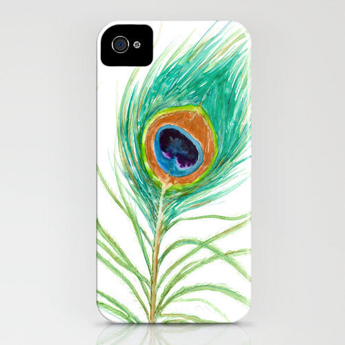 Peacock Phone Case   Peacock Feather Watercolor...