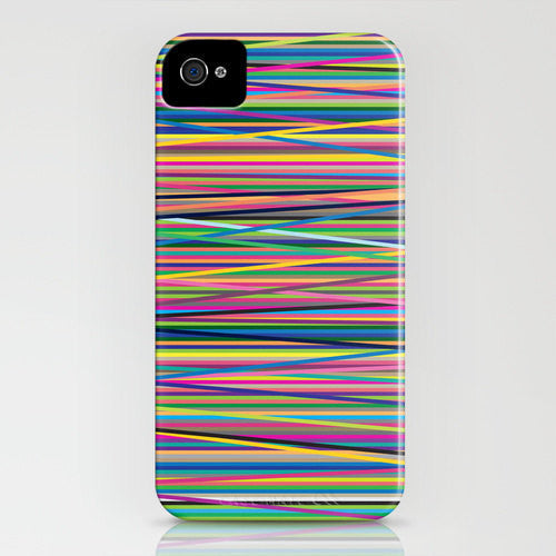 Geometric Color Lines Cell Phone Cover - Designer iPhone Samsung Case