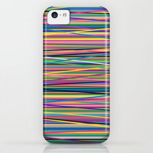 Geometric Color Lines Cell Phone Cover - Designer iPhone Samsung Case - Brazen Design Studio