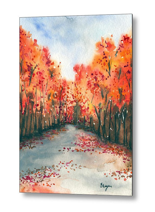 Metal or Birchwood Art Print - Autumn Landscape Print Home Decor - Brazen Design Studio