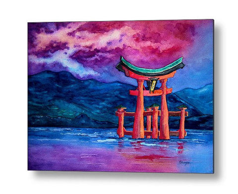 Metal or Birchwood Art Print - Japanese Shrine Temple Gate - Zen Home Decor - Brazen Design Studio