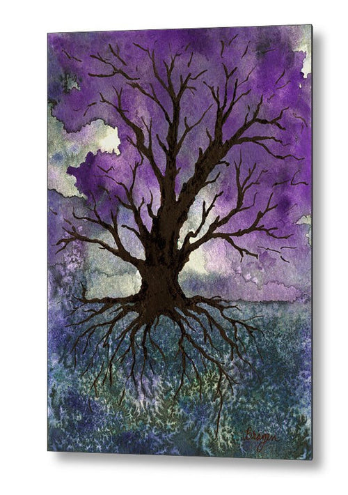 Tree of Life Gothic Birchwood or Metal Art Print - Home Decor Housewares - Brazen Design Studio