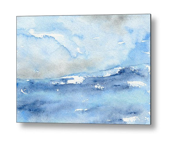 Tempest Ocean Seascape Birchwood or Metal Art Print - Home Decor - Brazen Design Studio