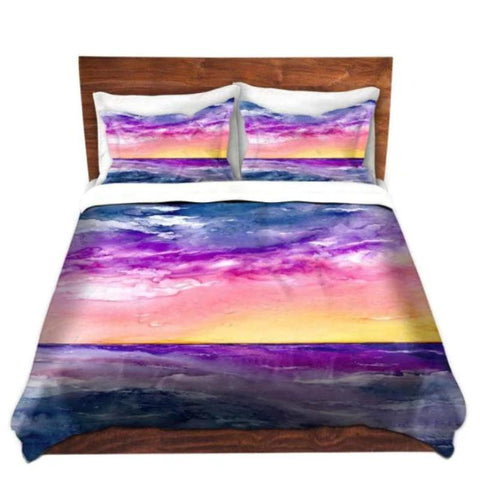 Jellyfish Watercolor Painting Duvet Set
