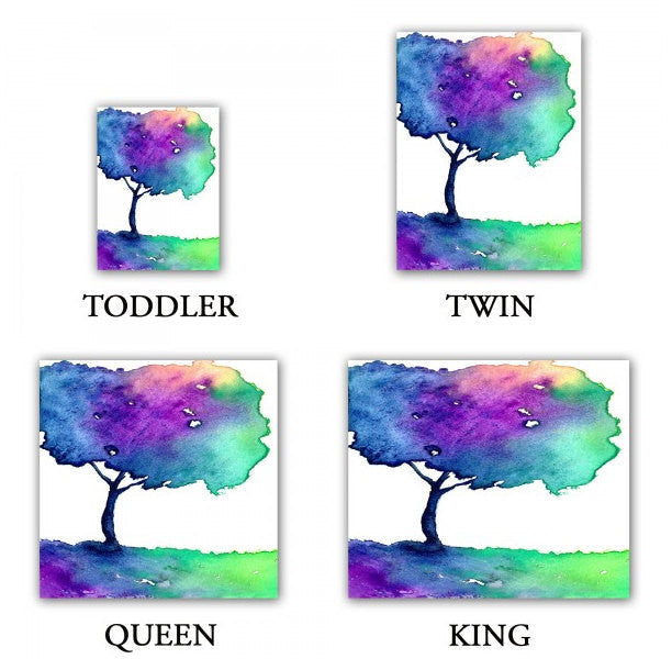 Duvet Cover Hue Tree Painting - Nature Modern Bedding - Queen Size Duvet Cover - King Size Duvet Cover - Brazen Design Studio