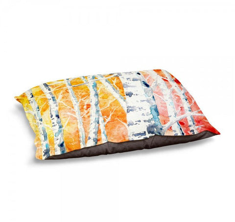 Designer Dog Bed  - Falling for Color Watercolor Painting - Fleece Cotton Cover - Brazen Design Studio