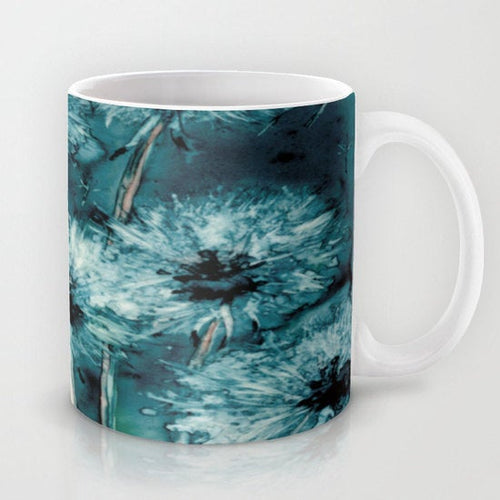 Artistic Floral Coffee Mug - Dandelion Wishes - Kitchen Decor  Mug Drinkware