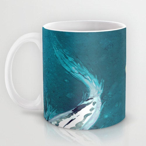 Artistic Koi Fish Coffee Mug - Kitchen Decor  Mug Drinkware