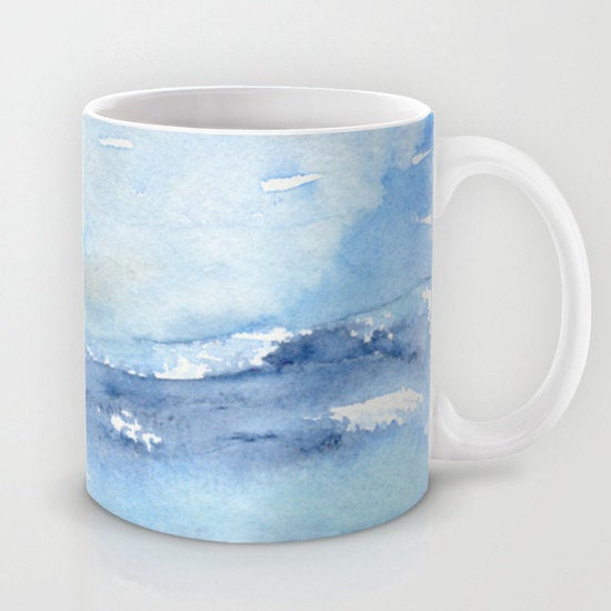 Artistic Ocean Wave Coffee Mug - Seascape - Kitchen Decor  Mug Drinkware