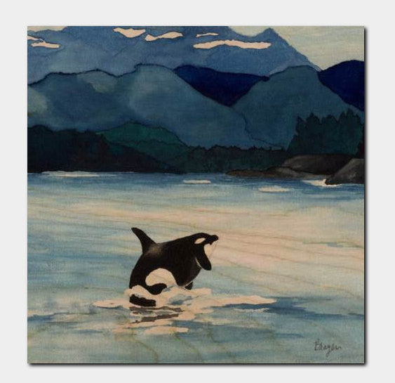 Orca Killer Whale Birchwood or Metal Art Print - Ocean Wildlife Home Decor - Brazen Design Studio