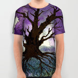 Designer Clothing - Tree of Life Painting - Artistic All Over Printed T Shirt - Brazen Design Studio