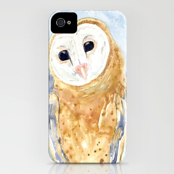 Owl Phone Case   Widllife Watercolor Painting  ...