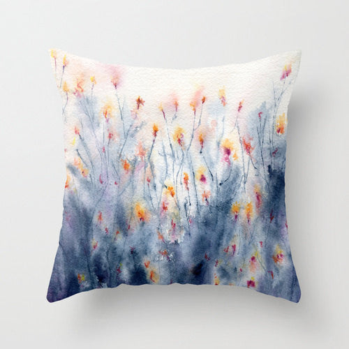 Decorative Floral Pillow Cover - Wildflowers - Throw Pillow Cushion - Fine Art Home Decor - Brazen Design Studio
