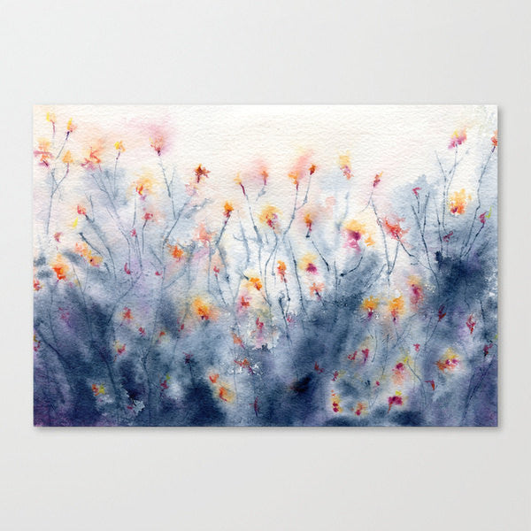 Floral Watercolor Painting - Wildflowers Art Print Wall Art Home Decor - Brazen Design Studio