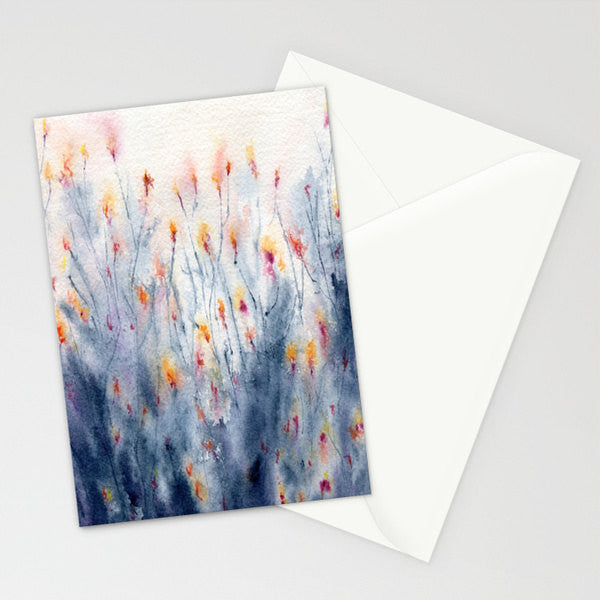 Wildflowers Watercolour Greeting Card - Reproduction Art Card - Brazen Design Studio