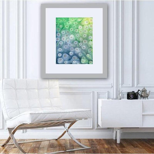 Abstract Art - Rivulet - Watercolor Painting on Yupo - Iridescent Art - Brazen Design Studio