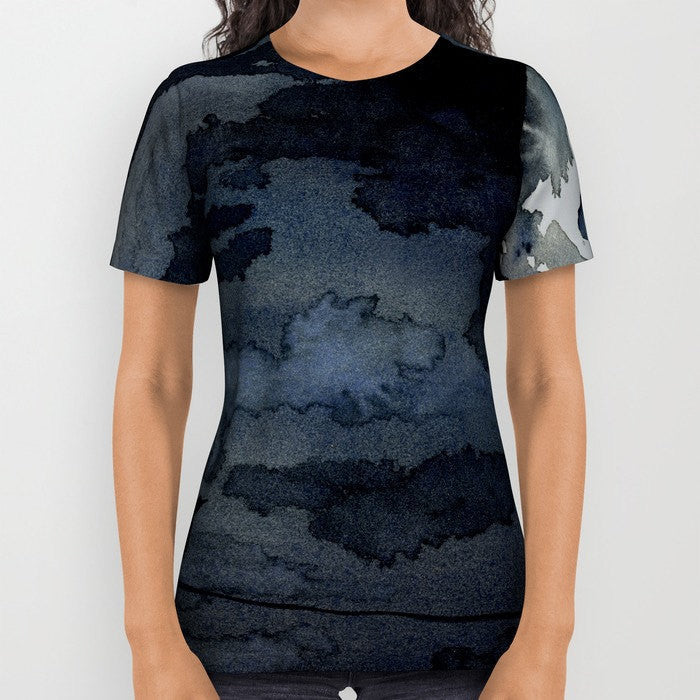 Designer Clothing - Raven Painting - Artistic All Over Printed T Shirt - Brazen Design Studio