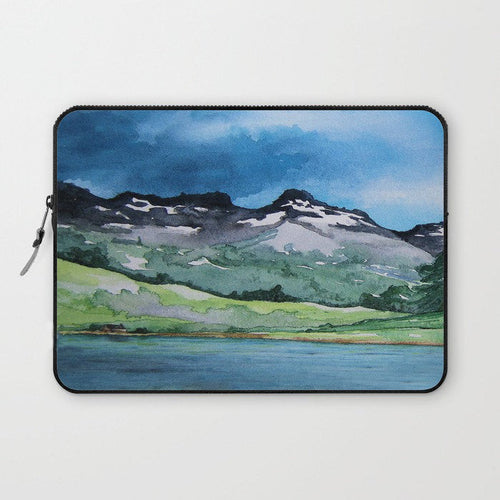 Scenic Macbook Pro Laptop Case - Artistic Printed Fabric Laptop Sleeve - Landscape Painting - Brazen Design Studio