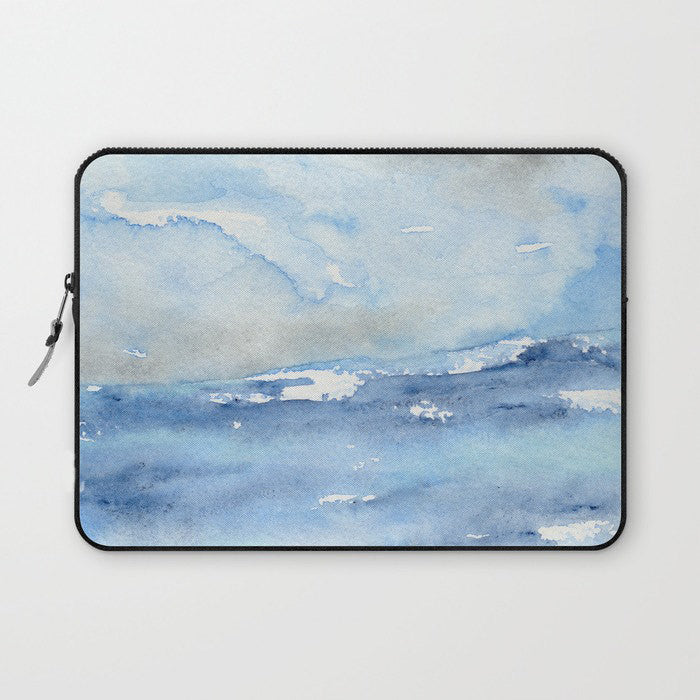 Scenic Macbook Pro Laptop Case - Artistic Printed Fabric Laptop Sleeve - Ocean Painting - Brazen Design Studio