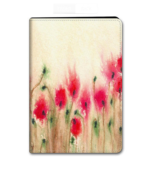 Floral Poppies iPad Hard or Folio Case - Designer Device Cover - Brazen Design Studio