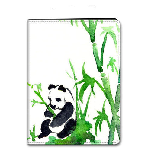 Panda iPad Hard or Folio Case - Bamboo Painting - Designer Device Cover - Brazen Design Studio