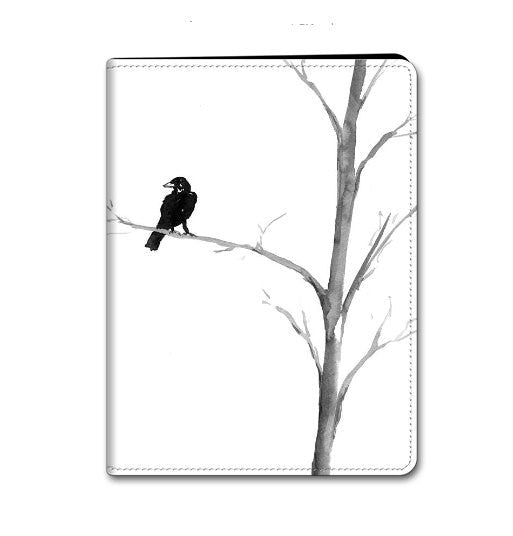 Raven iPad Mini iPad Air Hard or Folio Case - Black Bird in a Tree - Designer Device Cover - Brazen Design Studio