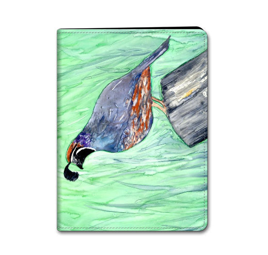iPad Hard or Folio Case - Valley Quail Bird Art - Designer Device Cover - Brazen Design Studio