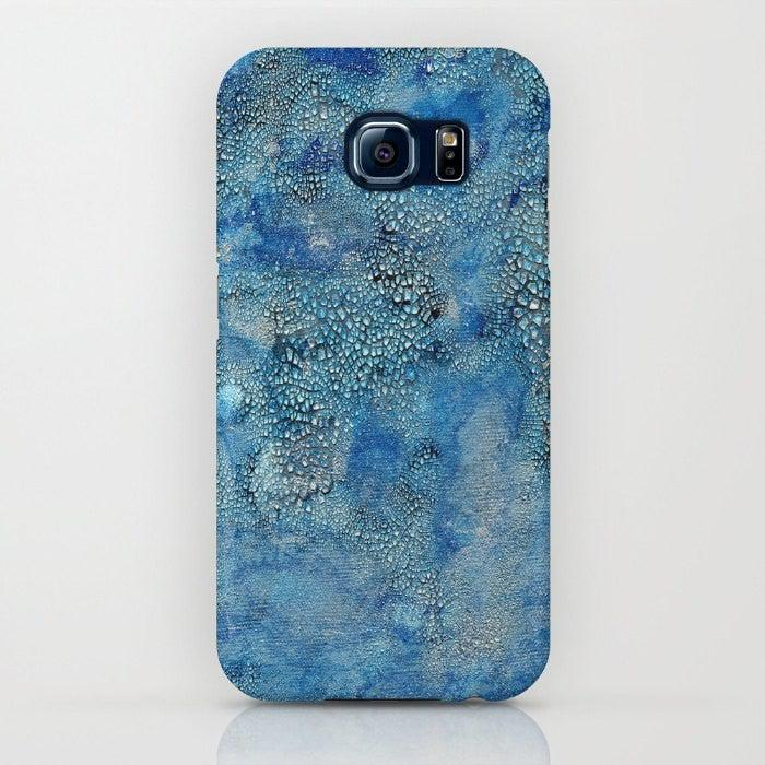 Phone Case Blue Abstract Painting - Designer iPhone Samsung Case - Brazen Design Studio