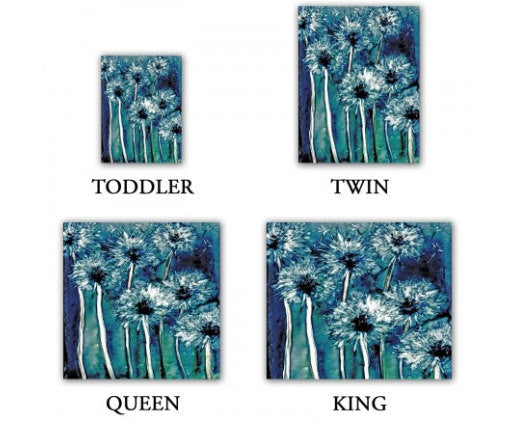 Dandelions Painting - Nature Modern Bedding - Queen Size Duvet Cover - King Size Duvet Cover - Brazen Design Studio