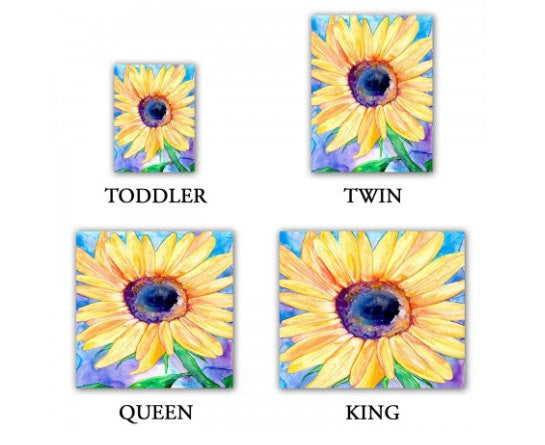 Duvet Set Sunflower Painting - Nature Modern Bedding - Queen Size Duvet Cover - King Size Duvet Cover - Brazen Design Studio