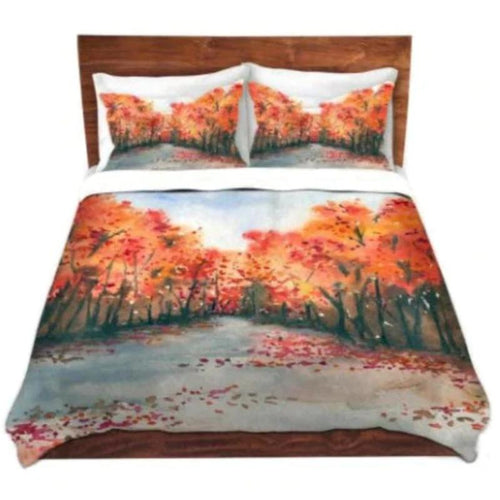Duvet Set Autumn Journey Painting - Nature Modern Bedding - Queen Size Duvet Cover - King Size Duvet Cover - Brazen Design Studio