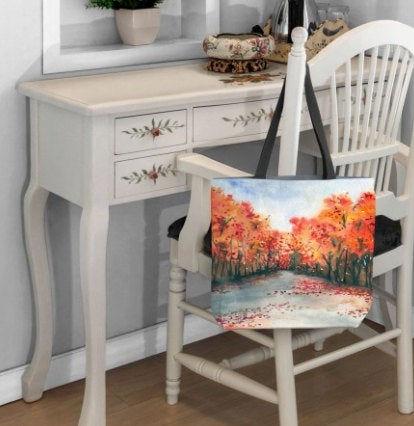 Tote Bag - Autumn Journey Watercolor Painting - Shopping Bag