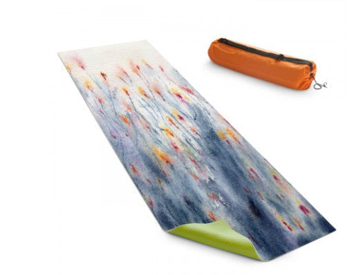 Yoga Mat Wildflowers Floral Watercolor Painting - Exercise Mat - Brazen Design Studio