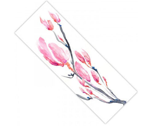 Yoga Mat Japanese Magnolia Floral Watercolor Painting - Exercise Mat - Brazen Design Studio