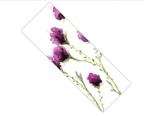 Yoga Mat Milk Thistle Floral Watercolor Painting - Exercise Mat - Brazen Design Studio