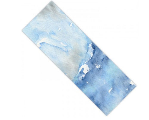 Yoga Mat Ocean Wave Seascape Watercolor Painting - Exercise Mat - Brazen Design Studio