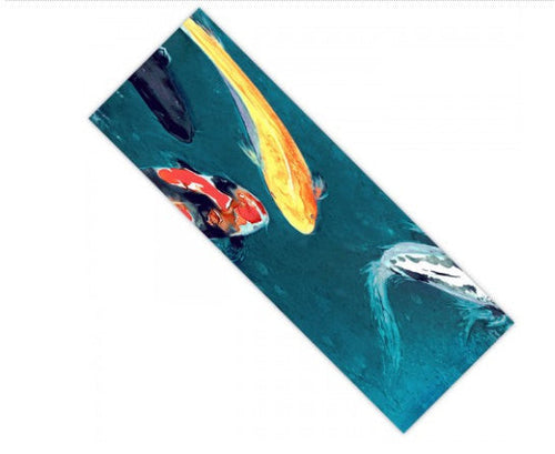 Yoga Mat Koi Fish Watercolor Painting - Zen Exercise Mat - Brazen Design Studio