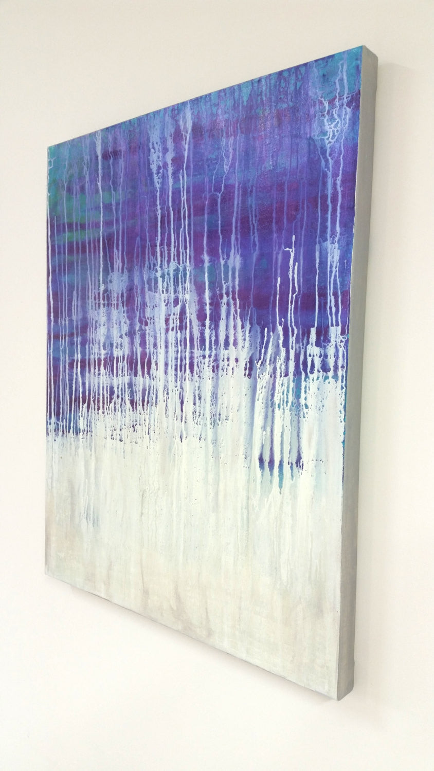 Enchanted - Original Iridescent Acrylic Painting on Canvas - Abstract Home Decor - Brazen Design Studio