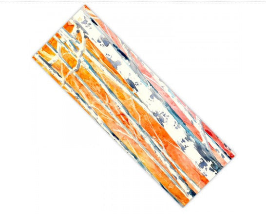 Yoga Mat Birch Trees Watercolor Painting - Exercise Mat - Brazen Design Studio