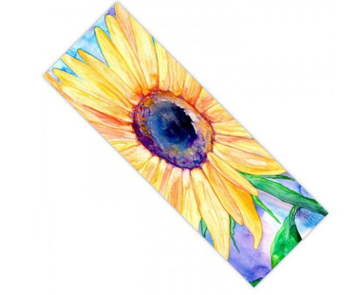 Yoga Mat Sunflower Floral Watercolor Painting - Exercise Mat - Brazen Design Studio
