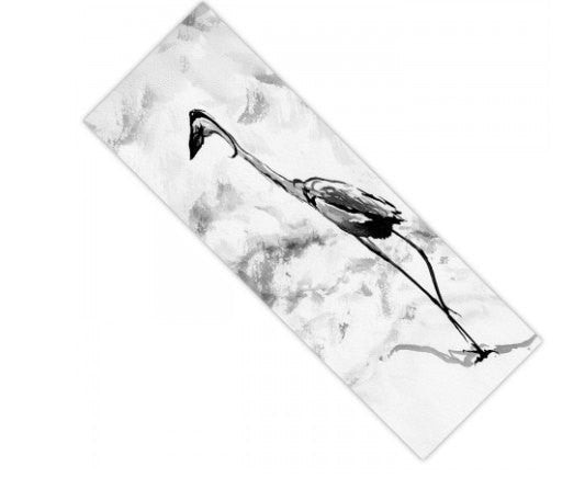 Yoga Mat Crane Bird Watercolor Painting - Exercise Mat - Brazen Design Studio