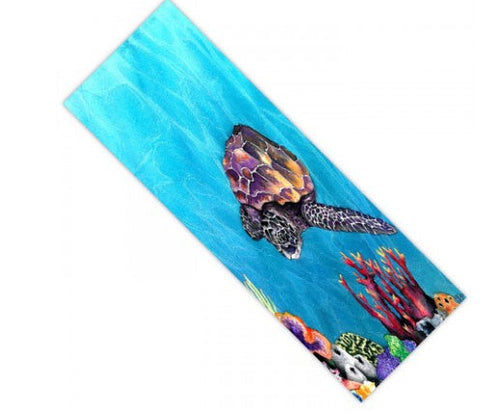 Yoga Mat Seaturtle Ocean Watercolor Painting - Exercise Mat - Brazen Design Studio
