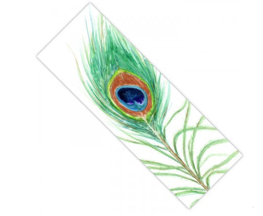 Yoga Mat Peacock Feather Bird Watercolor Painting - Exercise Mat - Brazen Design Studio