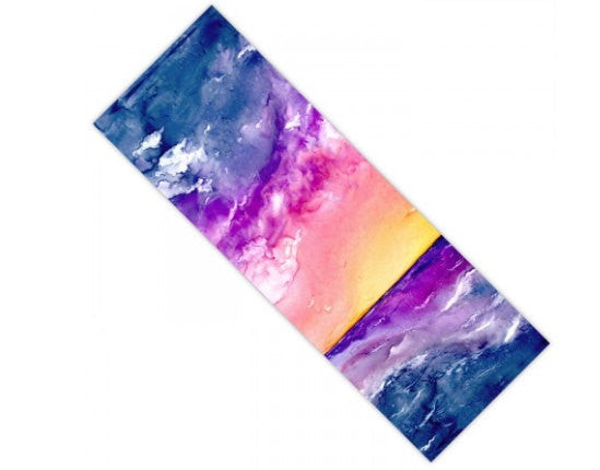 Yoga Mat Tempest Seascape Watercolor Painting - Exercise Mat