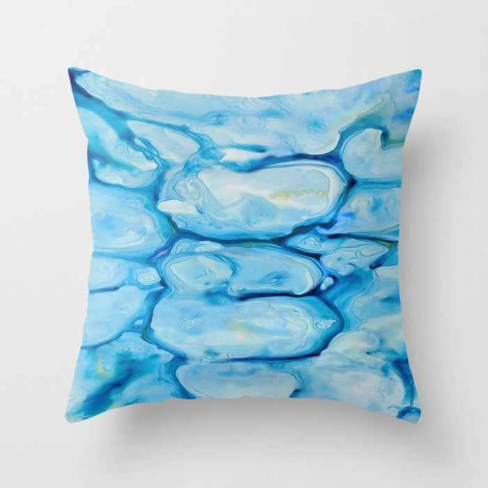 Decorative Pillow Cover - Abstract Art Nymphaea - Throw Pillow Cushion - Home Decor - Brazen Design Studio